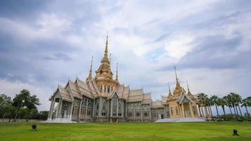 4k Time-lapse of Wat Luang Pho Toh temple or Wat Non Kum temple in Nakhon Ratchasima province, Thailand (The public anyone access)
