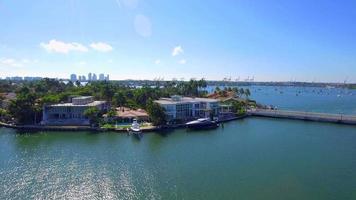 imágenes aéreas de la isla de san marco, miami beach video