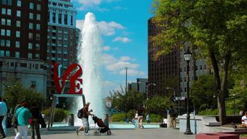 timelapse del parque del amor de filadelfia