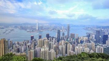 4k Time-lapse of Hong Kong city, view from The Peak