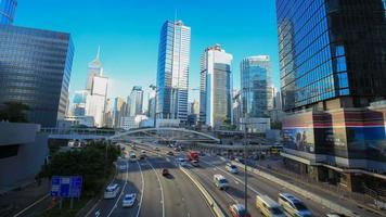 4k Zeitraffer des Verkehrs in Hongkong