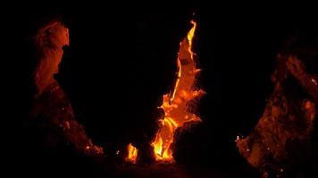 charbon de feu de camp
