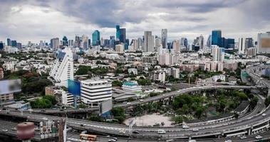 Time-Lapse Cityscape before rain come