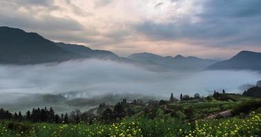 4k, time-lapse, lo scenario naturale più bello della Cina, scena di stupro wuyuan