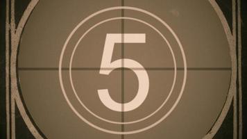 Countdown des Filmführers mit Getreide