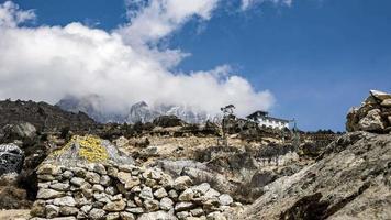 Cordillera del Himalaya en Namche Barzaar, Nepal.
