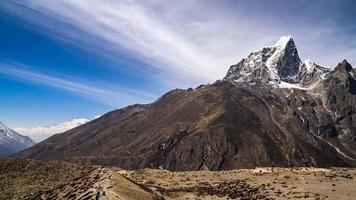 Himalayan mountain range in Nepal.