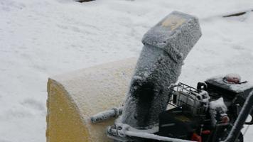 sistema para limpeza de neve. video