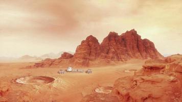 paisaje marciano uno - con hab y rover video