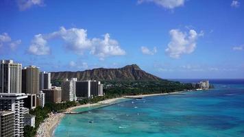 Waikiki Beach and Diamond Head, Hawaii video