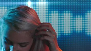 Blond Female DJ Dancing in Club video