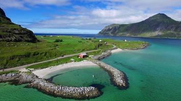 porto romântico nas ilhas lofoten na noruega video