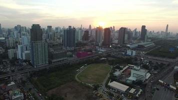 Veduta aerea del grattacielo a Bangkok in Tailandia video