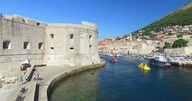 Fort St. Ivan and Old town harbour in Dubrovnik
