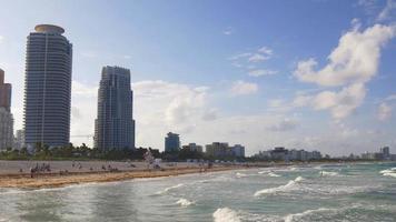 Estados Unidos verano atardecer miami south beach muelle panorama 4k