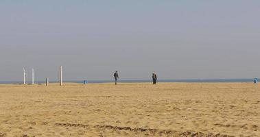 luz del sol valencia playa del mar mediterráneo 4k españa