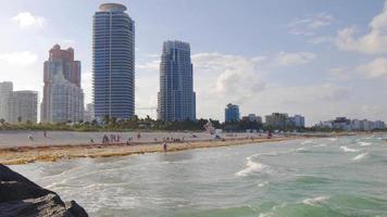 Estados Unidos verano atardecer tiempo miami south beach panorama 4k florida