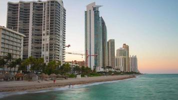 USA été coucher de soleil miami beach bay sunny isles pier panorama 4k time-lapse video