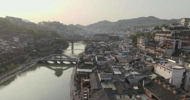 Fenghuang antike Stadt bei Sonnenuntergang