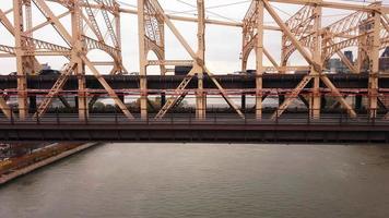 View of The Queensboro Bridge New York City 4k video