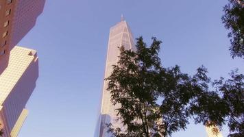 Downtown Manhattan Freedom Tower 4K video