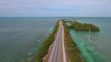 vídeo drone aéreo ilhas privadas nas chaves da Flórida
