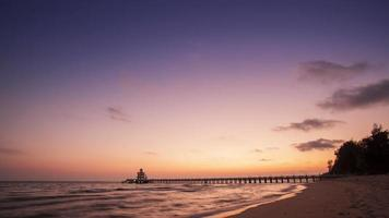 Time Lapse Pier in twilight video