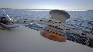 4k Video Sommer von Segelbooten auf dem See