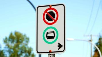 ônibus apenas parada na faixa de tráfego, sem tráfego regular de veículos video