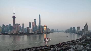 puesta de sol de shanghai