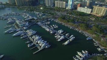 il drone circonda marina video