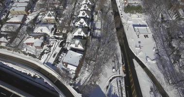 weehawken snow 2016 cavalcavia alberi spogli e edifici innevati video