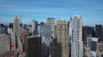 antena do edifício chrysler do centro de nyc video