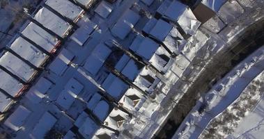 Weehawken snow 2016 survol à vol d'oiseau des appartements enneigés