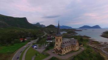 Catedral de Lofoten na Noruega video