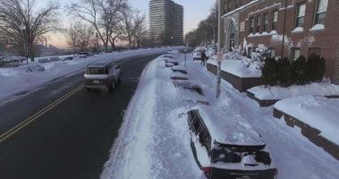 neve di weehawken 2016 sorvolare nevicato in auto video
