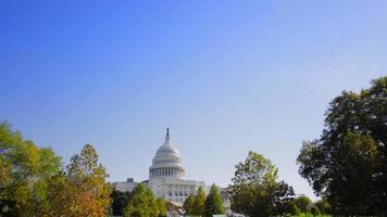 video girato nella giornata di sole di Washington DC Capitol Hill