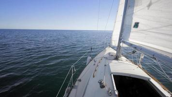 4k vídeo de verão de veleiros no lago video
