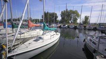 4k video summer of sailboats on the lake