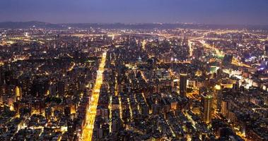 The Chinese Taipei 101, the city at night video