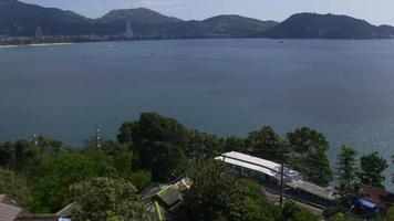tailandia phuket island famoso patong beach hotel hill panorama 4k