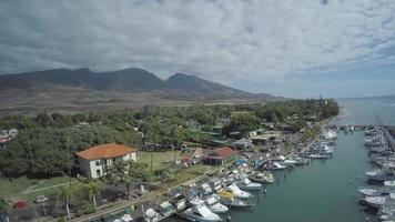 4 k drone aéreo maui, hawaii lahaina maui harbour front st. video