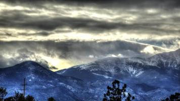 Colorado Rocky Mountain Range im Winter: Zeitraffer