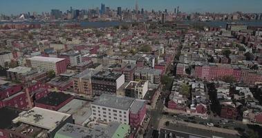 hoboken nj stazionario quindi vola in avanti vista degli edifici video