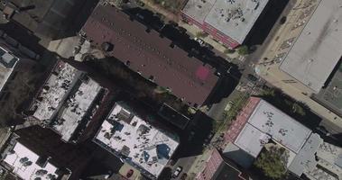 hoboken nj dall'alto guarda in basso la vista degli edifici video
