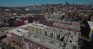 hoboken nj veduta aerea di edifici dall'aspetto antico video
