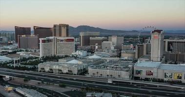 Las Vegas Skyline Panning Night Time Lapse