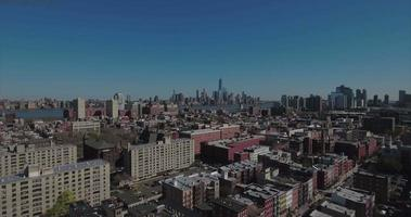hoboken nj cavalcavia edifici con torre della libertà sullo sfondo video