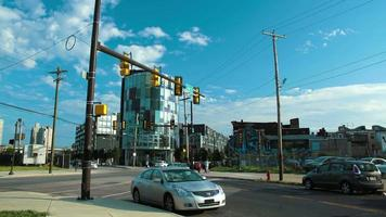 timelapse de intersección de calles