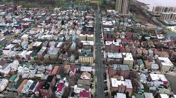 nj do norte na visão aérea de Hudson video